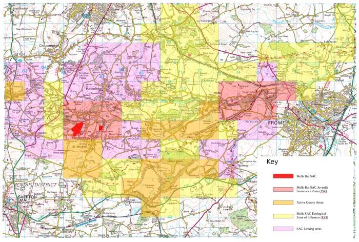 Mells SAC Bat Landscape survey with Key v0-5